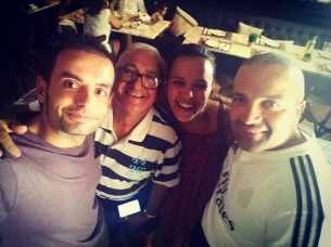 Con Manolo y Joan Barahona, de Casa Manolo (Ses Salines)