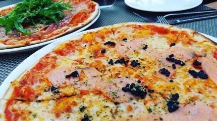 Pizzas de la pizzeria Dolç Dolç, Petra.