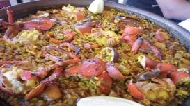 Paella de bogavante del Restaurant Can Rafalet (Formentera).