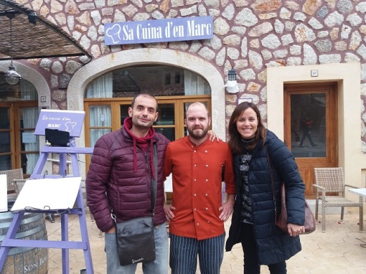 En La Cuina d'en Marc de Fornalutx, con Marc Martínez.